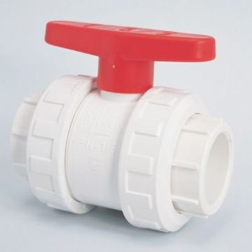 "2"" White Double Union Ball Valve"